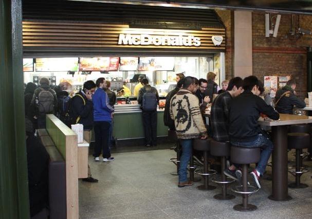McDonalds Waterloo Station