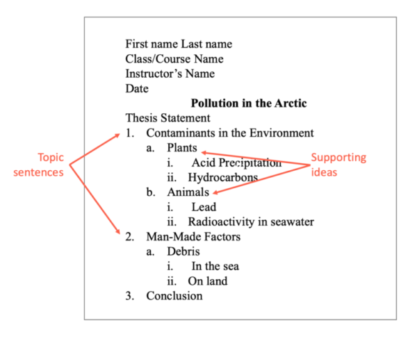 APA Format Outlines