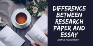 Differences Between an Essay and a Research paper