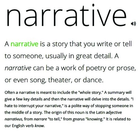 What does narrative mean?