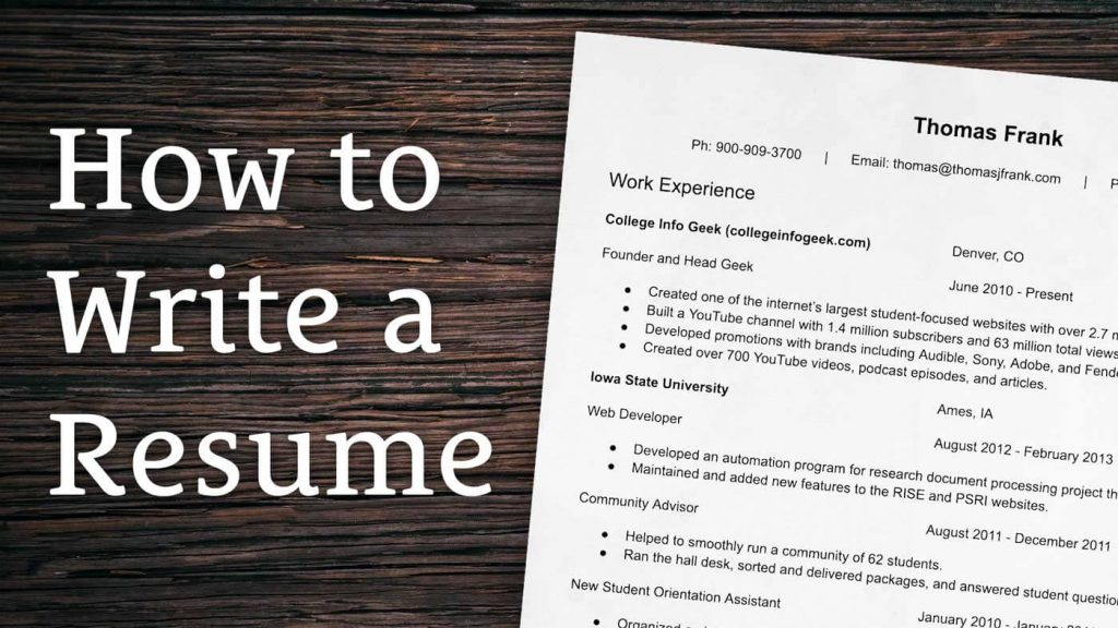 How to Write a Resume - Complete Step By Step Guide