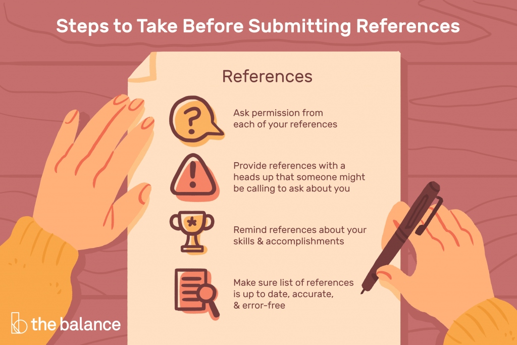 Steps to Take Before Submitting References