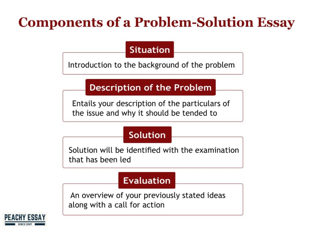 Components of Problem Solution Essay
