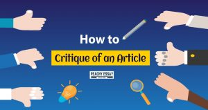 How to critique of an article