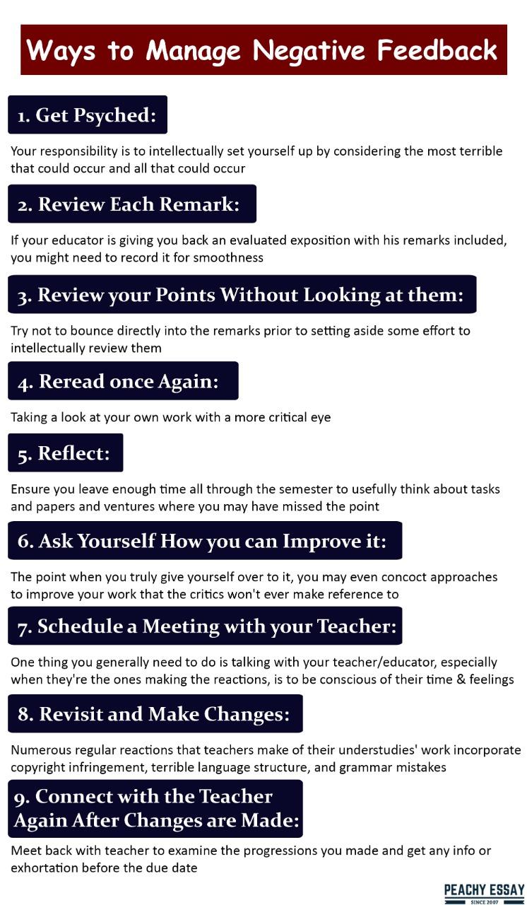 Ways to manage negative feedback