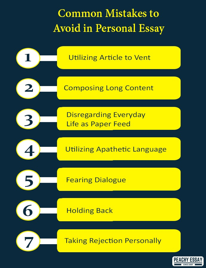 Common mistakes to avoid in personal essay