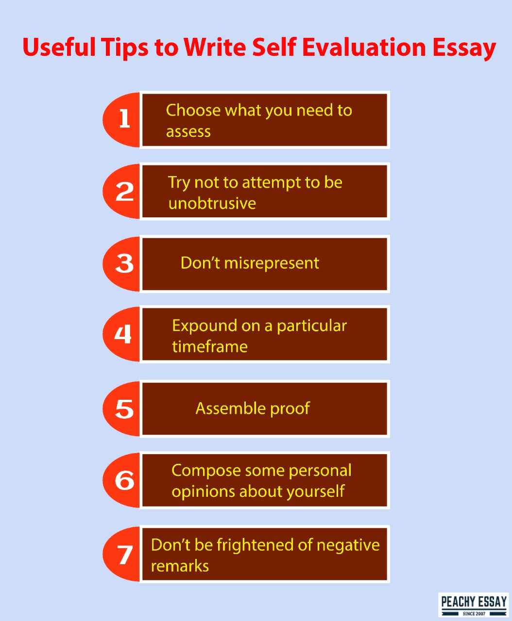 tips to write self evaluation essay