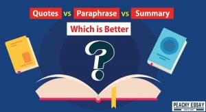 Quotes VS Paraphrase VS Summary