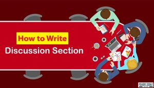 how to write discussion section