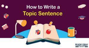how to write topic sentence