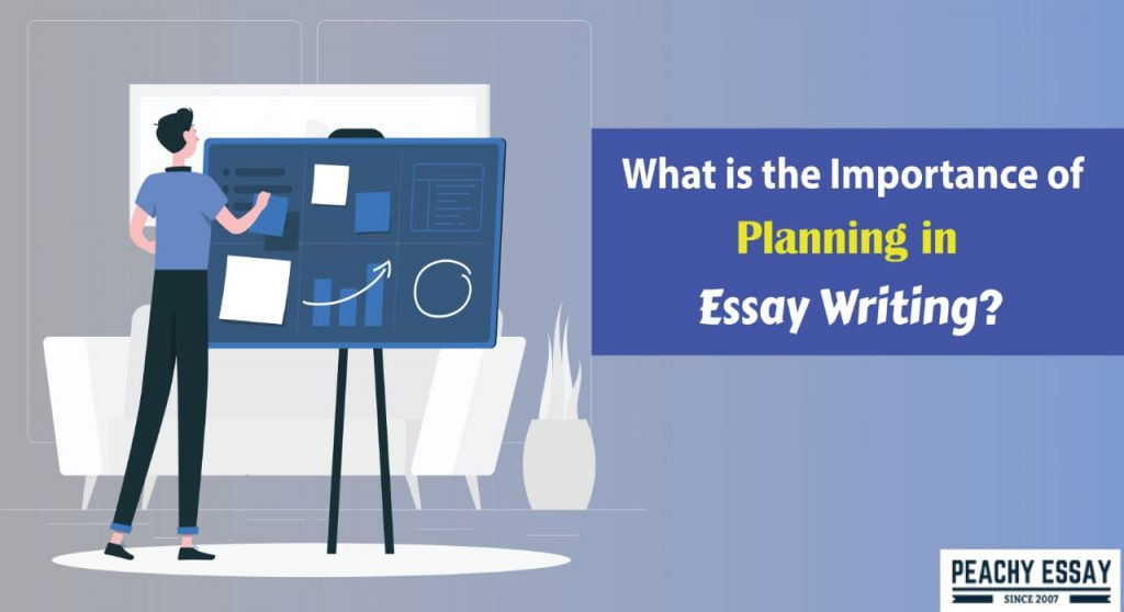What is the importance of planning in essay writing?